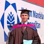 Philip outside his alma mater - NMMU